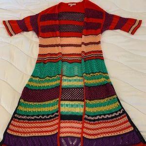 Cecilia Prado crochet open kimono size medium